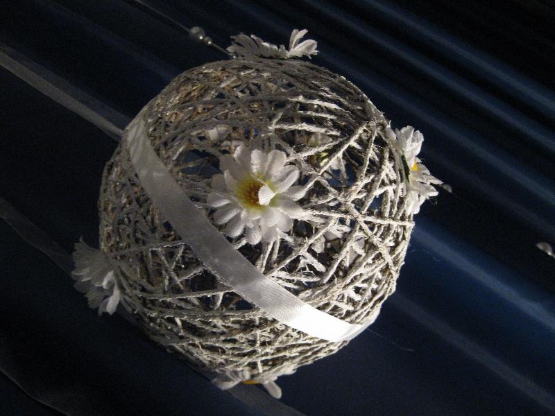 Елка из ниток своими руками шары-паутинки