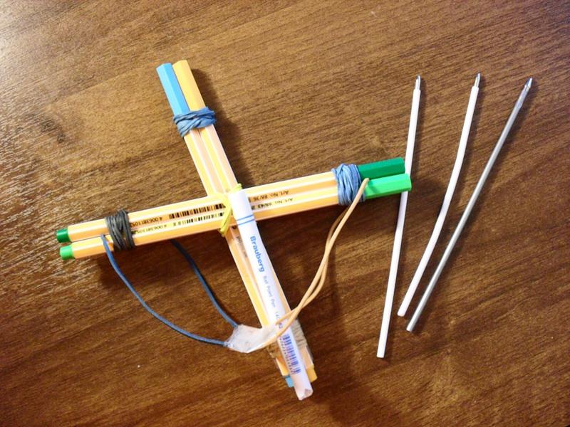 Как сделать арбалет из карандашей своими руками 2