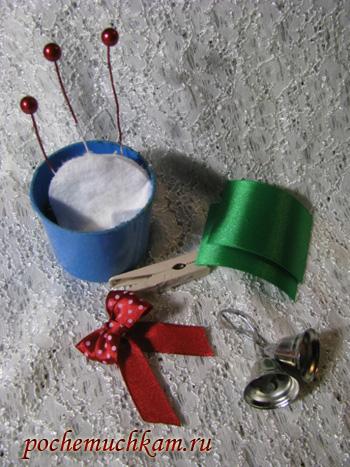 Как сделать новогоднюю прищепку