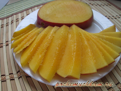 Как нарезать манго