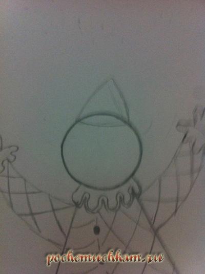 Как нарисовать колуна